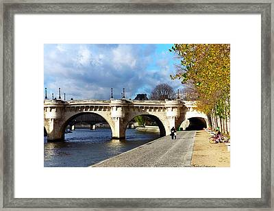 Paris Bridge 0523 Framed Print by PhotohogDesigns