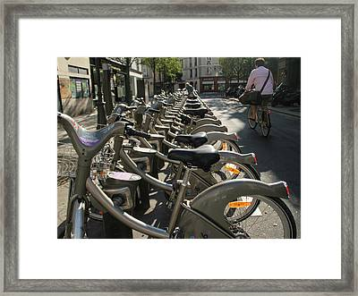 Framed Print featuring the photograph Paris By Bike by Yoel Koskas