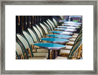 Paris Cafe Framed Print by Katya Horner