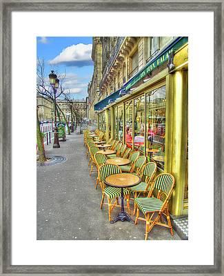 Paris Cafe Framed Print by Mark Currier