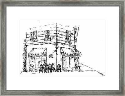 Paris Cafe Framed Print by Pamela Canzano