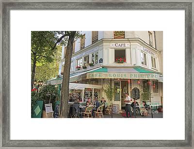 Paris Cafe Framed Print by Patricia Hofmeester