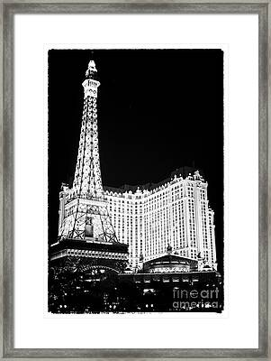 Paris Casino At Night II Framed Print by John Rizzuto