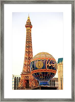 Paris Casino Las Vegas Framed Print by John Rizzuto