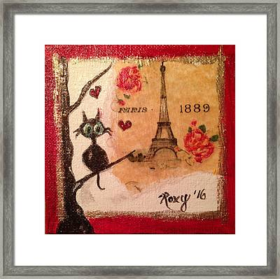 Paris Cat  Framed Print by Roxy Rich