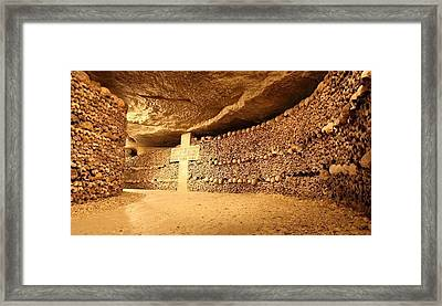 Paris Catacombs Framed Print by Cco