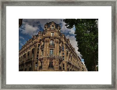 Framed Print featuring the photograph Paris - Champs Elysees 001 by Lance Vaughn