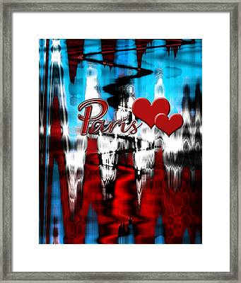 Framed Print featuring the photograph Paris by Cherie Duran