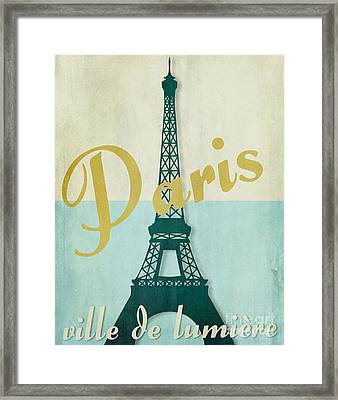 Paris City Of Light Framed Print by Mindy Sommers