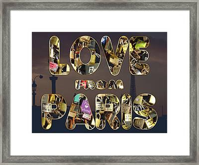 Paris City Of Love And Lovelocks Framed Print by Georgeta Blanaru