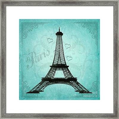 Paris Collage Framed Print