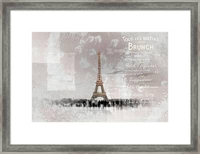 Paris Collage Framed Print by Melanie Viola