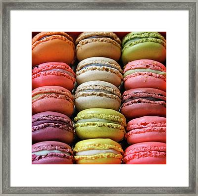 Paris Colorful Macaroons Framed Print by Abbietabbie