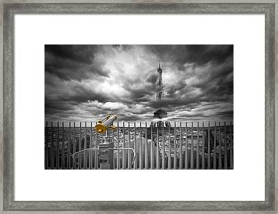 Paris Composing Framed Print by Melanie Viola