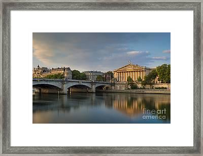 Paris Dawn Framed Print