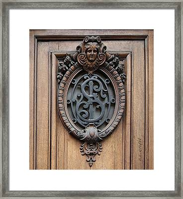 Paris - 19th Century Door Ornament Framed Print by Yvonne Wright