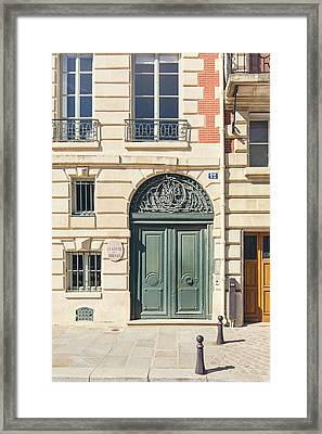 Framed Print featuring the photograph Paris Doors No. 12 by Melanie Alexandra Price