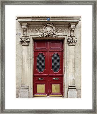 Paris Doors No. 17 - Paris, France Framed Print