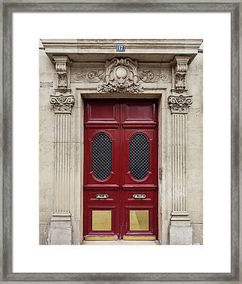Paris Doors No. 17 - Paris, France Framed Print