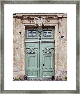 Paris Doors No. 29 - Paris, France Framed Print