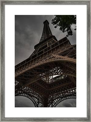 Framed Print featuring the photograph Paris - Eiffel Tower 003 by Lance Vaughn
