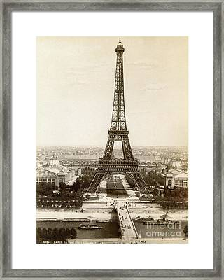 Paris: Eiffel Tower, 1900 Framed Print by Granger