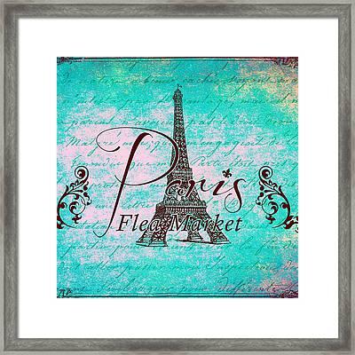 Paris Eiffel Tower Framed Print by Brandi Fitzgerald