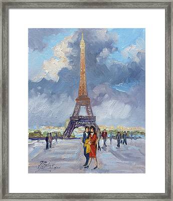 Paris Eiffel Tower Framed Print