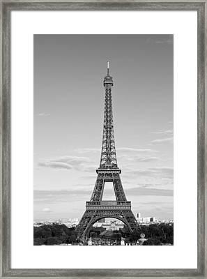 Paris Eiffel Tower Monochrome Framed Print by Melanie Viola