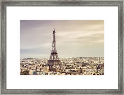 Paris Eiffelturm Framed Print by Davis J Engel