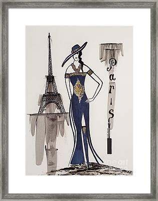 Paris Fashion Framed Print