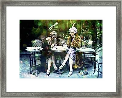 Paris Fashionista 1920 Framed Print by Lilia D