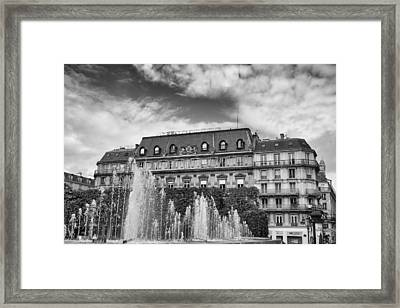 Paris Fountains Grandeur Framed Print by Georgia Fowler