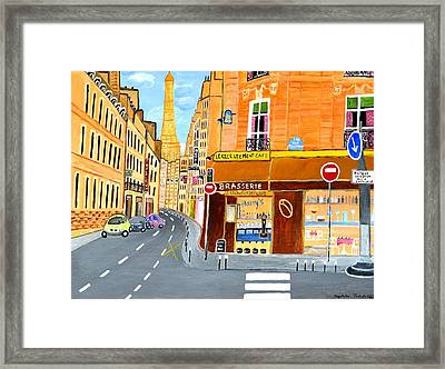 Paris France, Rue St. Dominique Framed Print