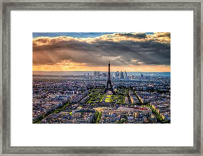 Framed Print featuring the photograph Paris From Above by Tim Stanley