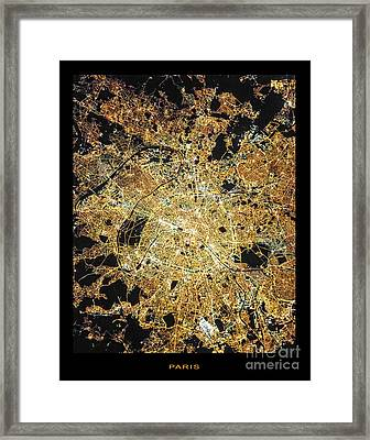 Framed Print featuring the photograph Paris From Space by Delphimages Photo Creations