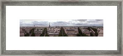 Paris From The Arch De Triumph Framed Print by Robert Ponzoni
