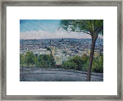 Paris From The Sacre Coeur Montmartre France 2016 Framed Print