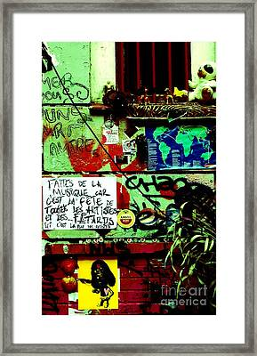 Paris Graffiti Framed Print by Louise Fahy