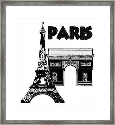 Paris Graphique Framed Print