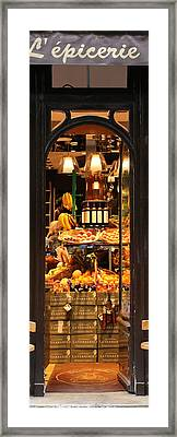 Paris Grocery Store Framed Print by Andrew Fare