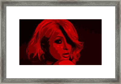 Paris Hilton Framed Print by Brian Reaves