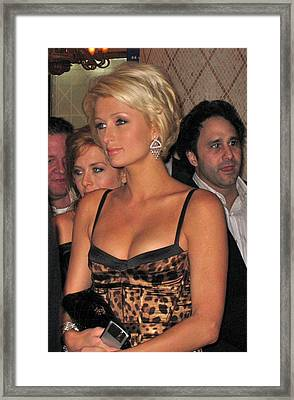 Paris Hilton  Framed Print