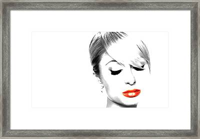Paris Hilton Just Me Framed Print by Brian Reaves
