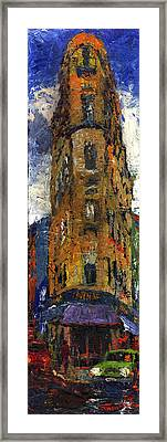 Paris Hotel 7 Avenue Framed Print