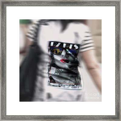 Paris In A Dress  Framed Print by Steven Digman