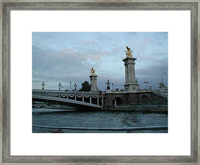 Paris In August Framed Print