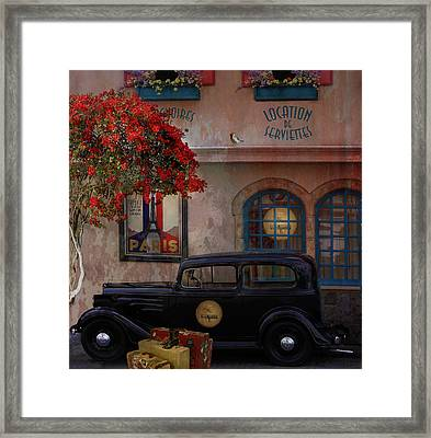 Framed Print featuring the digital art Paris In Spring by Jeff Burgess