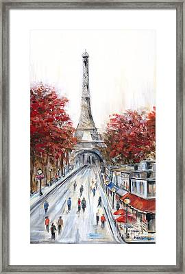 Paris In The Fall Framed Print by Marilyn Dunlap