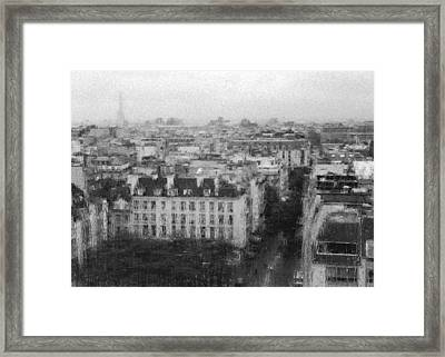 Paris In The Rain  Framed Print
